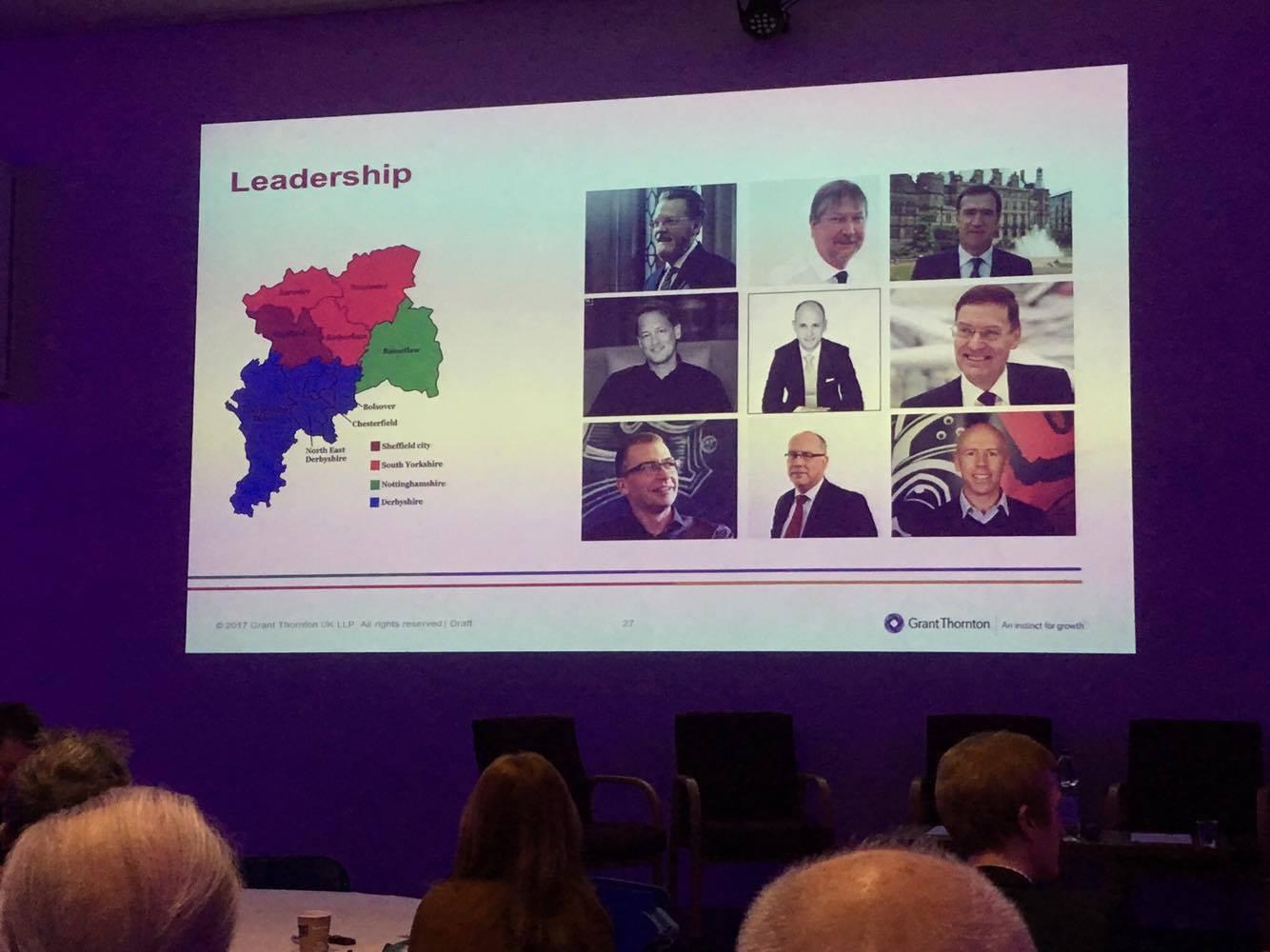 All-male line up for leadership slide.